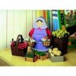 Puzzle  Schreiber-Bogen-72376 Cardboard Model: Woman with her baskets