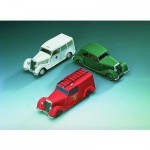 Puzzle  Schreiber-Bogen-72442 Cardboard Model:Mercedes-Benz 170V - tree cars