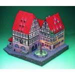 Puzzle  Schreiber-Bogen-72474 Cardboard Model: St. Mary's Pharmacy and Trade Hall (Rothenburg)