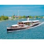 Puzzle  Schreiber-Bogen-730 Cardboard Model: Lake Constance paddle steamer Hohentwiel