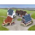 Puzzle  Schreiber-Bogen-740 Cardboard Model: Small Village Ensemble