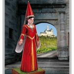 Puzzle  Schreiber-Bogen-744 Cardboard Model: Kunigunde, Damsel of the Castle