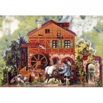 Puzzle  Schreiber-Bogen-769 Cardboard Model: Romantic Watermill