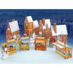 Puzzle   Cardboard Model: Advent Calendar Village