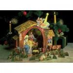 Puzzle   Cardboard model: Big nativity scene