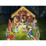 Puzzle   Cardboard Model: Christmas Crib with Kings