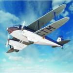 Puzzle   Cardboard model: De Havilland DH89 Fast Dragon