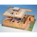 Puzzle   Cardboard Model: Egyptian House