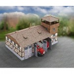 Puzzle   Cardboard Model: Fire Station