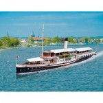 Puzzle   Cardboard Model: Lake Constance paddle steamer Hohentwiel