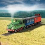 Puzzle   Cardboard model: Steam locomotive
