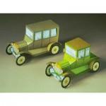 Cardboard Model: Two Ford vintage model T