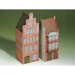 Cardboard Model: Two houses from Lüneburg