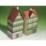 Kartonmodelbau: Two half-timbered houses from Celle