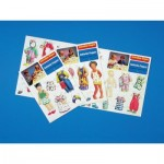 Puzzle   Set of dressed dolls 1 - 3 different outfits