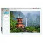 Puzzle  Step-Puzzle-78094 Temple Seiganto-ji & Nachi Falls
