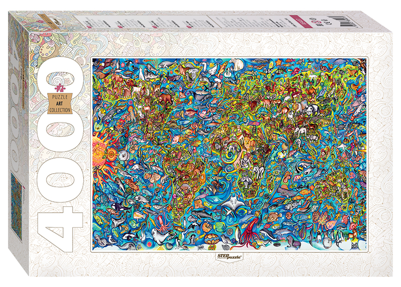 Puzzle Map of the World Step-Puzzle-85407 4000 pieces Jigsaw Puzzles ...