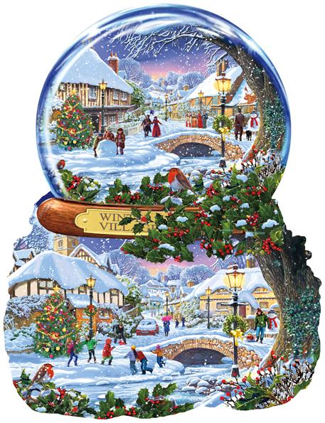 Steve Crisp - Winter Village 1000 piece jigsaw puzzle