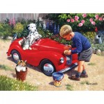 Puzzle  Sunsout-13717 Kevin Walsh - Washing the Car