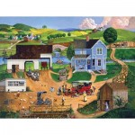Puzzle  Sunsout-14002 XXL Pieces - Stay for Dinner