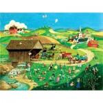 Puzzle  Sunsout-14079 XXL Pieces - Easter Egg Hunt