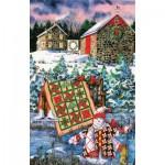 Puzzle  Sunsout-14634 Diane Phalen - A Christmas Cheer Quilt