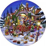 Puzzle  Sunsout-15534 XXL Pieces - Here Comes Santa Paws Road