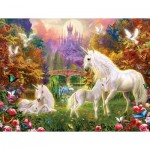 Puzzle  Sunsout-15960 XXL Pieces - Castle Unicorns