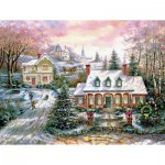 Puzzle  Sunsout-17729 Carl Valente - Holiday Magic