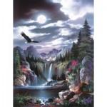 Puzzle  Sunsout-18005 XXL Pieces - James Lee - Moonlit Eagle