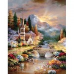 Puzzle  Sunsout-18073 XXL Pieces - James Lee - A Country Evening Service