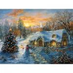 Puzzle  Sunsout-19224 XXL Pieces - Christmas Cottage