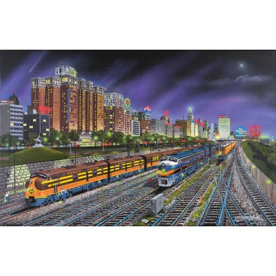 Puzzle Sunsout-21385 Robert West : Chicago Nights
