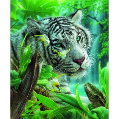 Puzzle Sunsout-21802 White Tiger of Eden