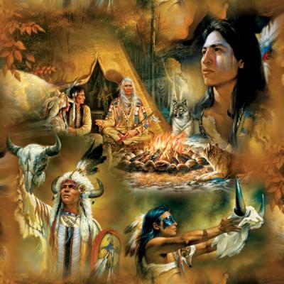 Puzzle Sunsout-21827 Russ Docken - Native American Dreams