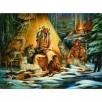 Puzzle  Sunsout-21834 Russ Docken - Mystical Meeting