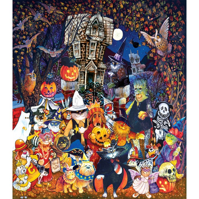 XXL Pieces - Cats and Dogs on Halloween