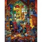 Puzzle  Sunsout-21894 Bill Bell - The Clockmaker