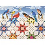 Puzzle  Sunsout-24210 XXL Pieces - Feathered Stars