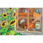 Puzzle  Sunsout-24624 Carol Decker - Sunflower Shed