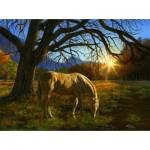 Puzzle  Sunsout-26294 Karla Mann - Pastoral Sunset