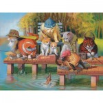 Puzzle  Sunsout-28039 XXL Pieces - Fishing on the Dock