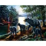 Puzzle  Sunsout-28368 XXL Pieces - James Meger - Bear Moon