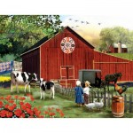 Puzzle  Sunsout-28727 XXL Pieces - Tom Wood - Serenity in the Country