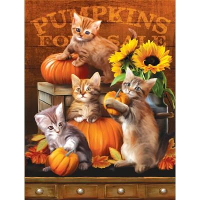Puzzle Sunsout-28762 XXL Pieces - Autumn Kitties