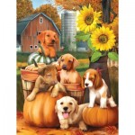 Puzzle  Sunsout-28767 XXL Pieces - Autumn Puppies