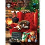Puzzle  Sunsout-28840 XXL Pieces - Santa Stop Here