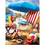 Puzzle  Sunsout-28865 XXL Pieces - Beach Cats