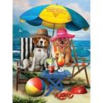 Puzzle  Sunsout-28884 XXL Pieces - Beach Dogs