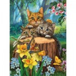 Puzzle  Sunsout-28948 XXL Pieces - Tom Wood - Fraidy Cats